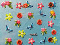 Декоративні 3D наклейки для нігтів з візерунками №32