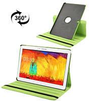 Вращающийся зеленый чехол для Samsung Galaxy Tab Pro 12.2 из синтетической кожи