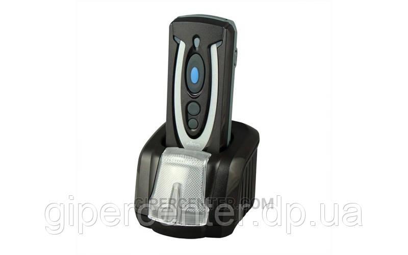 Износостойкий беспроводной сканер для штрих-кодов Cino PF680 BT Smart Cradle Kit KBW черный с подставкой