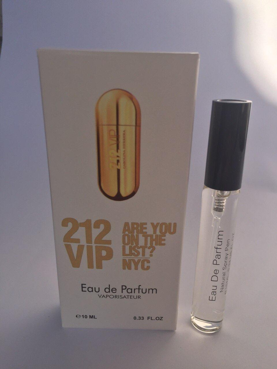 Женский мини парфюм с феромонами Carolina Herrera 212 VIP (Каролина Херрера 212 ВИП) 10 мл