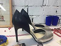 Женские туфли лодочки с открытым носком