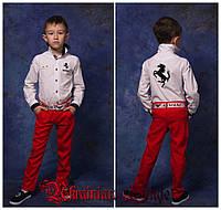 Стильные детские льняные брюки (унисекс)