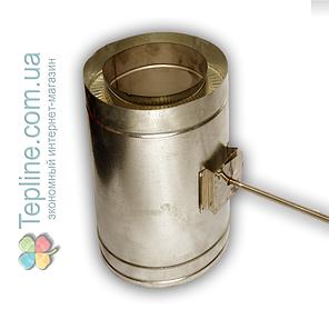 Регулятор тяги для дымохода d 110 мм; 1 мм; AISI 304; нержавейка/оцинковка сэндвич - «Версия Люкс», фото 2