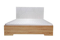 Кровать Миа (1,40м.) (белый супер мат / дуб сонома), фото 2