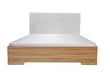 Кровать Миа (1,60м.) (белый супер мат / дуб сонома), фото 2