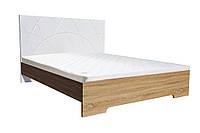 Кровать Миа (1,40м.) (белый супер мат / дуб сонома)