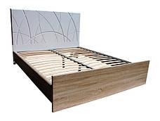 Кровать Миа (1,40м.) (белый супер мат / дуб сонома), фото 3