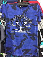Летняя мужская футболка с принтом 46-50р.