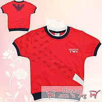 Модные футболки для мальчика Рост: 92- 110 см (5220-1)