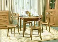 Деревянный раскладной обеденный стол A13 ольха
