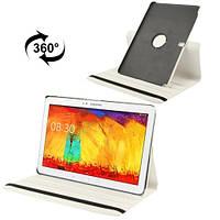 Вращающийся белый чехол для Samsung Galaxy Tab Pro 12.2 из синтетической кожи