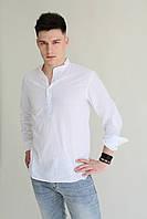 Мужская рубашка белая  лён Armani