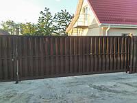 Секционный забор штакетный стандарт односторонний 3м*1,5м,Евроштакетник Мелитополь