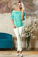 Блуза 2136 бирюзовый