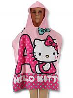 Детское пончо Hello Kitty оптом, 60*120 см.
