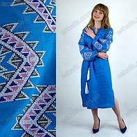Красивое женское льняное платье