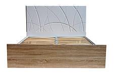 Кровать Миа (1,80м.) (белый супер мат / дуб сонома), фото 2