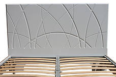 Кровать Миа (1,60м.) (белый супер мат / дуб сонома), фото 3