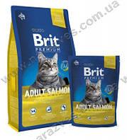 Сухой корм Brit Premium Adult Лосось на развес