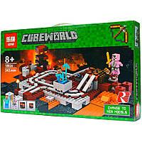 """Конструктор """"Подземная железная дорога"""" LEPIN 18024 (аналог LEGO 21130) Майнкрафт, 343 детали"""