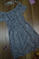 Женское летнее платье с рюшой из гипюра Italy, фото 1