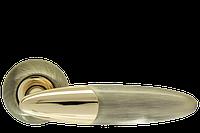 Ручка дверная на розетке Armadillo Sfera бронза (Китай)