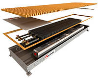 Внутрипольный регистр с двумя теплообменниками и принудительной конвекцией POLVAX КVM 2750x360x78
