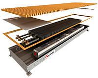 Внутрипольный регистр с двумя теплообменниками и принудительной конвекцией POLVAX КVM 2000x360x78