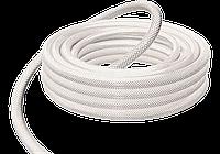 Шланг пищевой прозрачный армированный ПВХ-АН: 16/18 мм, 50 м, силикон, текстильная оплётка