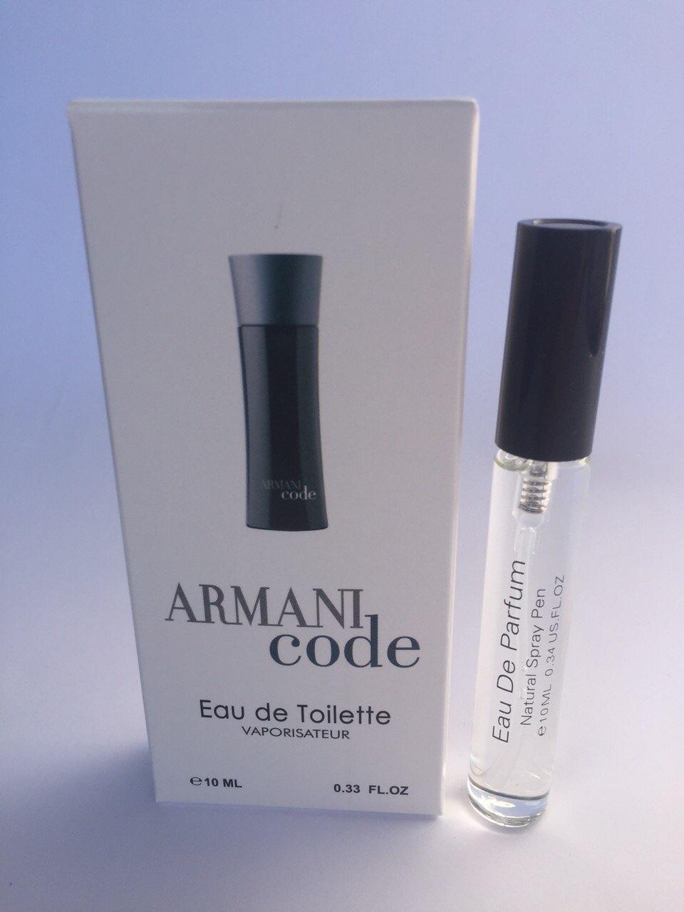 Мужской мини парфюм с феромонами Giorgio Armani Armani Code (Джорджио Армани Армани Код) 10 мл