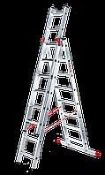 "Трехсекционная лестница EURO ""R""- 3X8 (5,75 m разл.) SVELT (SCE3R010)"