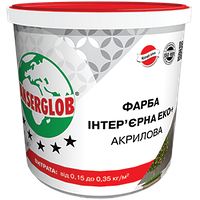 """Фарба інтер'єрна акрилова ANSERGLOB ЕКО+"""", 1,4 кг"""