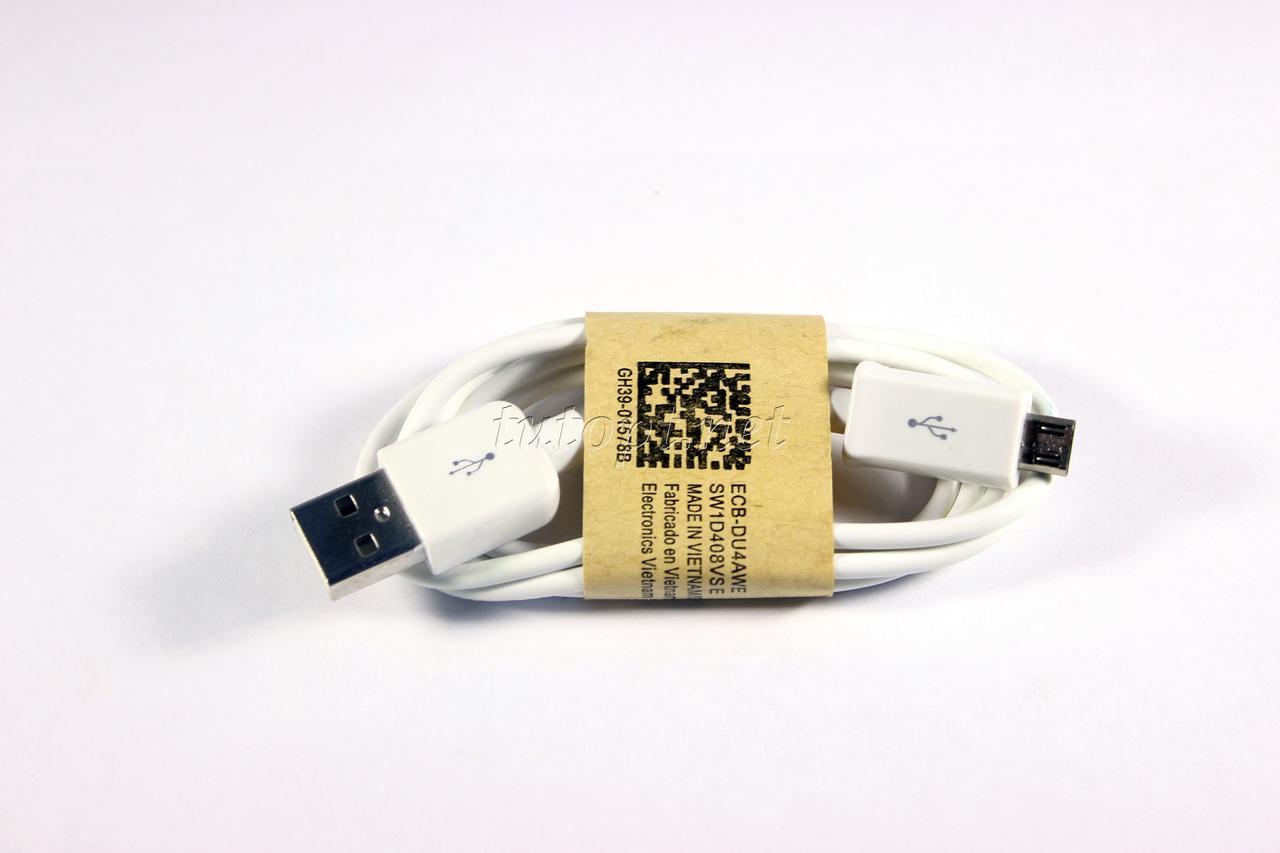 """USB - micro USB Кабель длина - 0.5м """"в наличие в черном и белом цвете"""", упаковка 20 шт."""