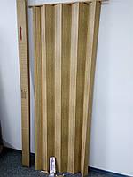 Двери гармошка дуб 820х2030х0,6 мм раздвижные межкомнатные пластиковые глухие