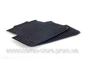 Напольные резиновые коврики Audi A6 для задней части, черные