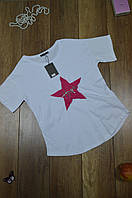 Женская приталенная футболка Турция  Белый