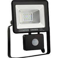 Светодиодный LED прожектор с датчиком движения 10W 6400K IP 65 Puma/S-10, фото 1