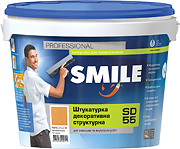 SD-55-16кг Штукатурка декоративная структурная «SMILE» Барашек 1-1,5мм