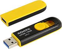 USB флешка 16GB A-Data DashDrive UV128 Black / Yellow AUV128-16G-RBY