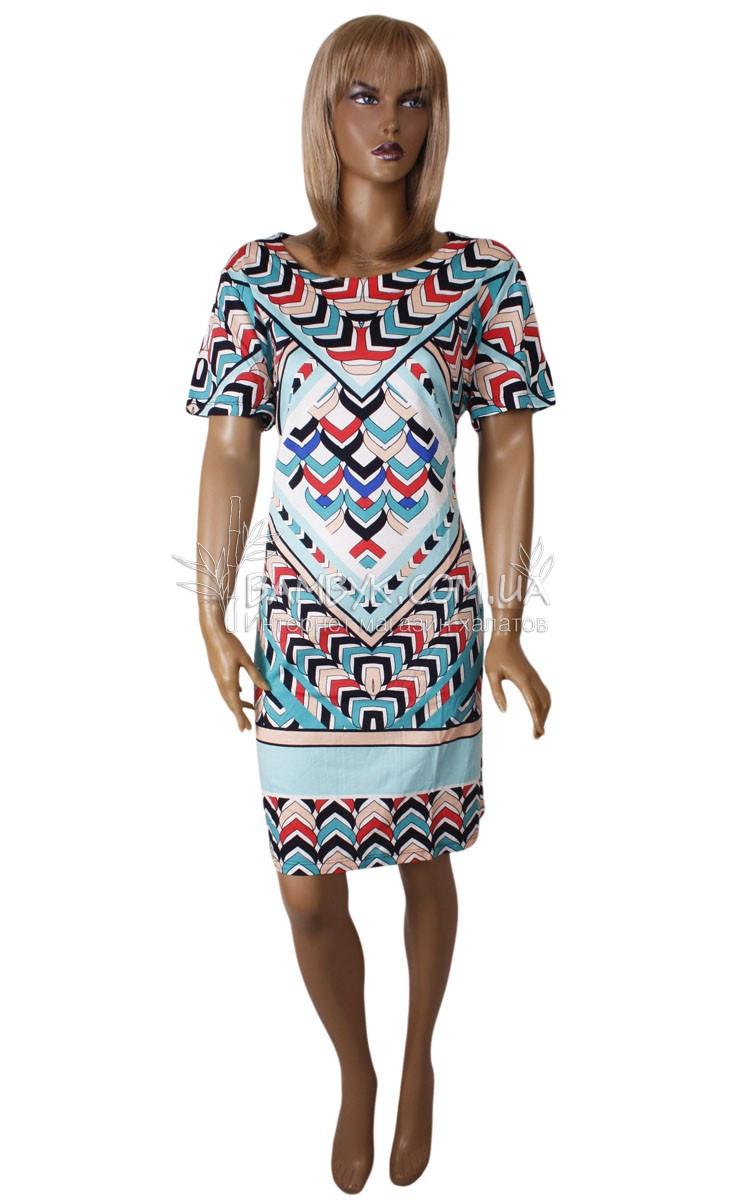 Летнее цветное платье Birlik №2533