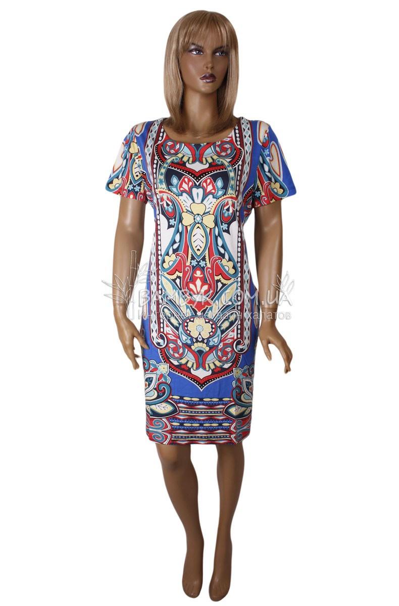 Летнее цветное платье Birlik №2548