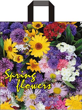 """Пакет с петлевой ручкой """"Spring flowers"""" 40х43см. 25шт."""