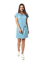 Платье Баунти 0240_1 Голубое меланж