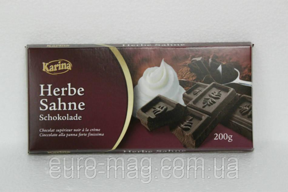 """Шоколад """" Karina"""" Herbe Sahne - Темный Крем , 200г (Германия)"""