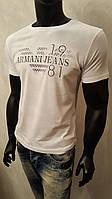 Однотонная футболка мужская с принтом