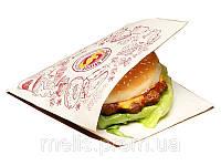 Пакеты уголок под гамбургер 150х140 мм