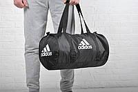 Сумка Adidas бочка черная белый лого