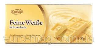 "Шоколад "" Karina"" Feine Weibe - белый , 200г (Германия)"