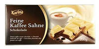 "Шоколад "" Karina"" Feine Kaffee Sahne - Белый с кофейным кремом , 200г (Германия)"
