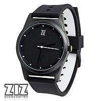 Часы наручные 6 секунд Black черный силиконовый ремешок